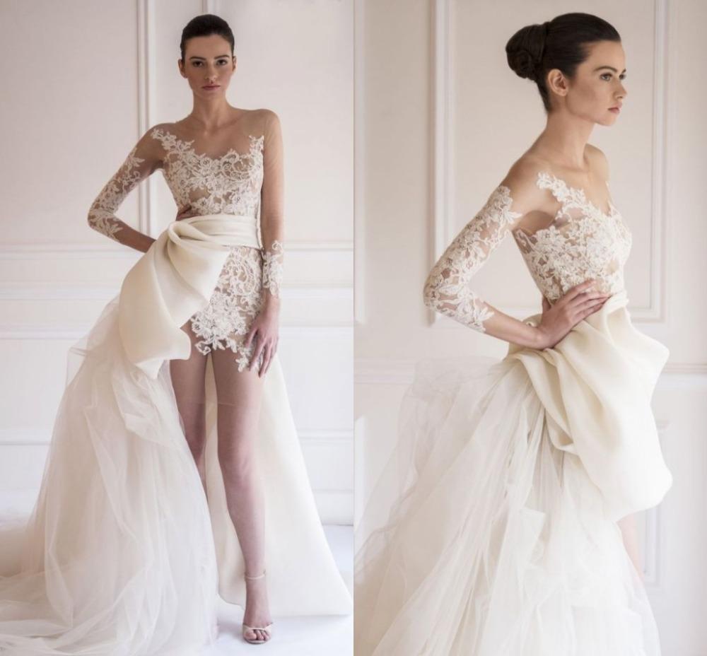 Váy cưới đuôi cá hở lưng xuyên thấu